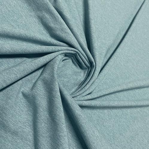 Melierter Jersey in rauchblau, eingedreht