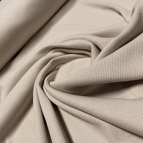 Ripp-Jersey grau-beige