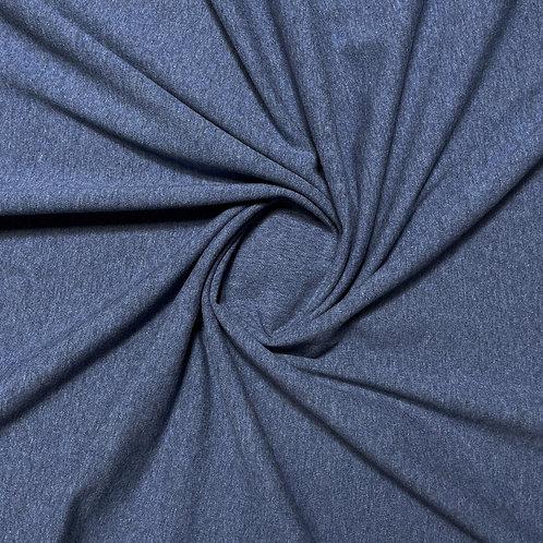 Jersey in dunkelblau meliert, eingedreht
