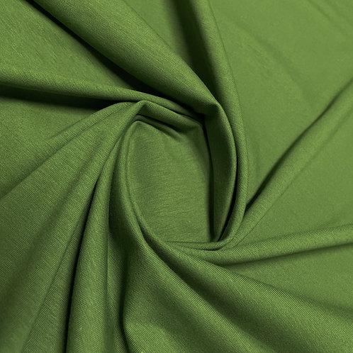 Bio-Jersey in dunkelgrün, eingedreht