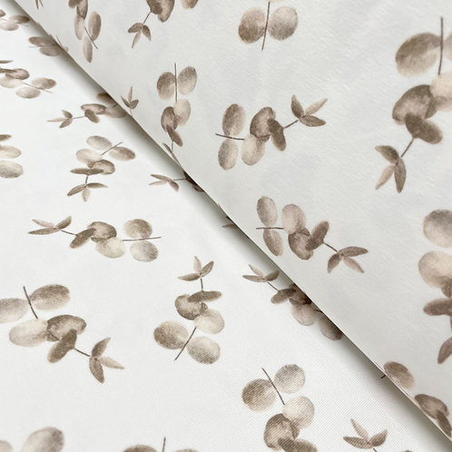 Jersey mit Eucalyptus in beige, auf der Rolle