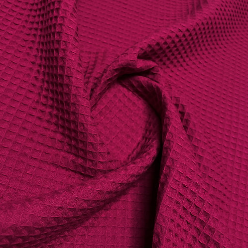 Waffelstoff in dunklem pink