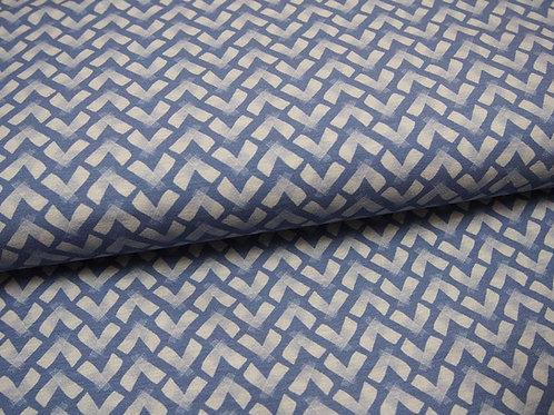 blauer Jersey-Stoff in blau mit Kreuzen von Swafing by Lila Lotta