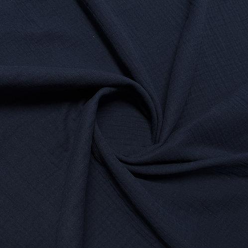 Musselin in jeansblau-dunkel