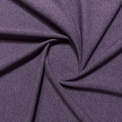 Melierter Jersey in violett, eingedreht