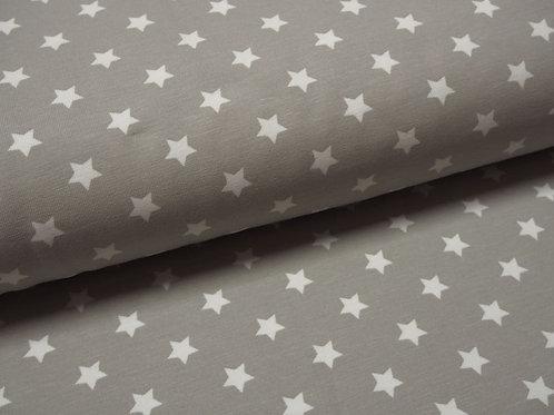 hellgrauer Jersey mit Sternen