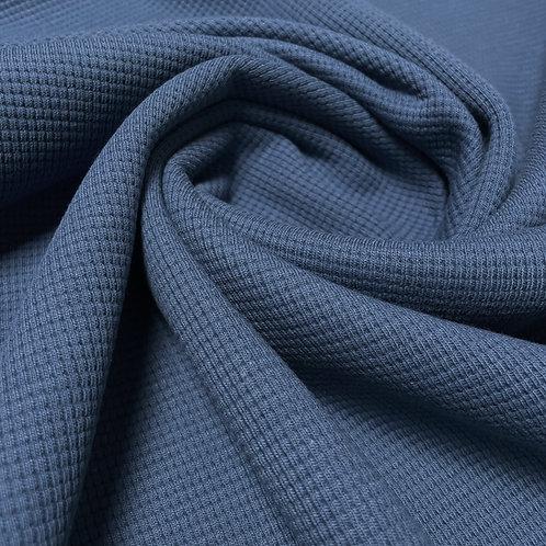 Waffeljersey in jeansblau