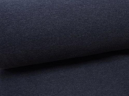 Bündchenstoff dunkelblau meliert (Jeans-Look)