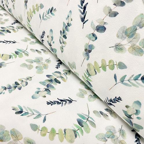 Jersey mit Eucalyptus-Blättern, auf der Rolle