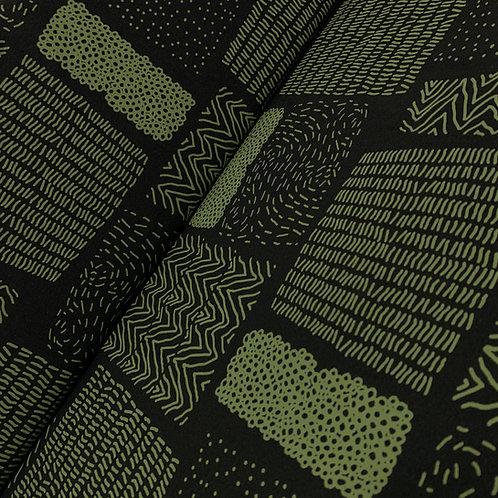 Bio-Jersey schwarz-grün Muster