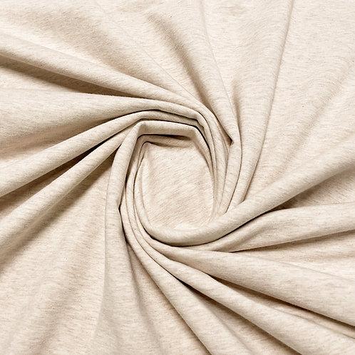 Melierter Jersey in der Farbe Sand, eingedreht