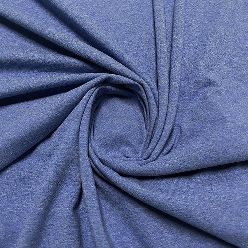 Melierter Baumwolljersey in blau, eingedreht