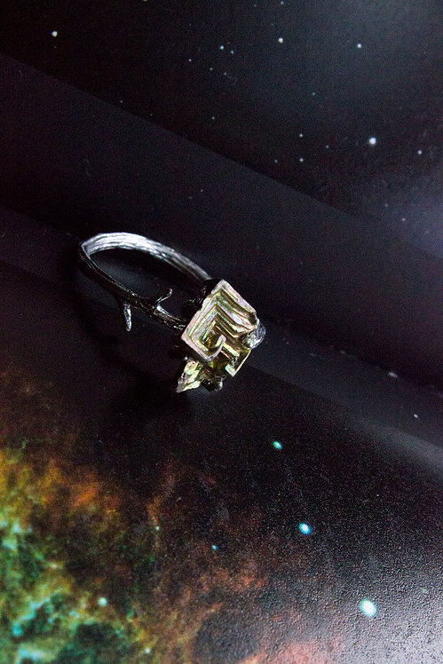 Bismuth Silver Plated Ring