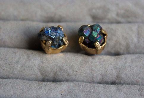 Iridescent Gemstone Earrings