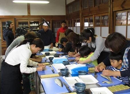 鯖寿司作り体験教室