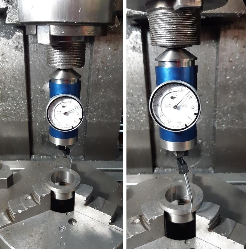 Centricator, czujnik zegarowy nowej generacji umożliwia obrót trzpienia wokół mierzonego elementu, utrzymując zegar w jednym miejscu