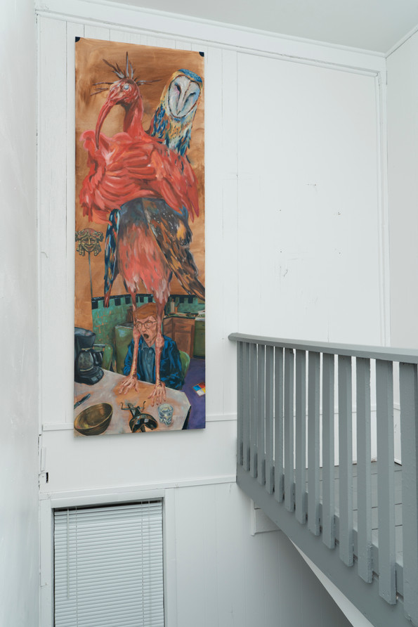 9 Edward Street, 2018, Oil on canvas, 91 x 31 inches