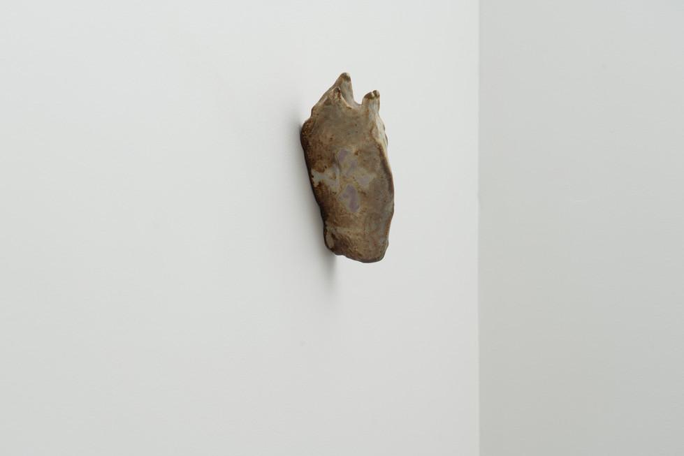 Slug, 2018, Ceramic, 7 x 2.5 x 1 inches