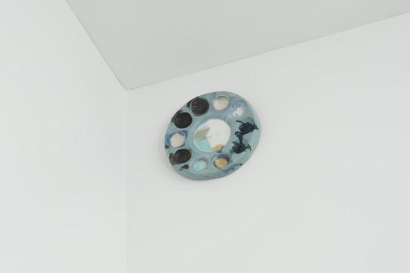 Palette #1, 2018, Porcelain, 6 x 6 inches