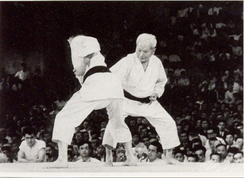Funakoshi Gichin Karate Demonstration (on the right)