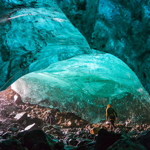 The Blue whale ice cave
