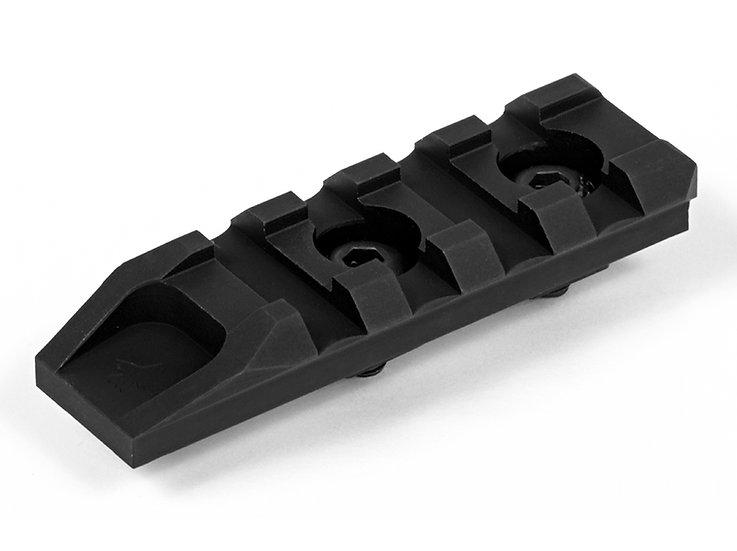 CRC 9004 Basic Anodizing / M-Lok Picatinny rail. 4 slots.