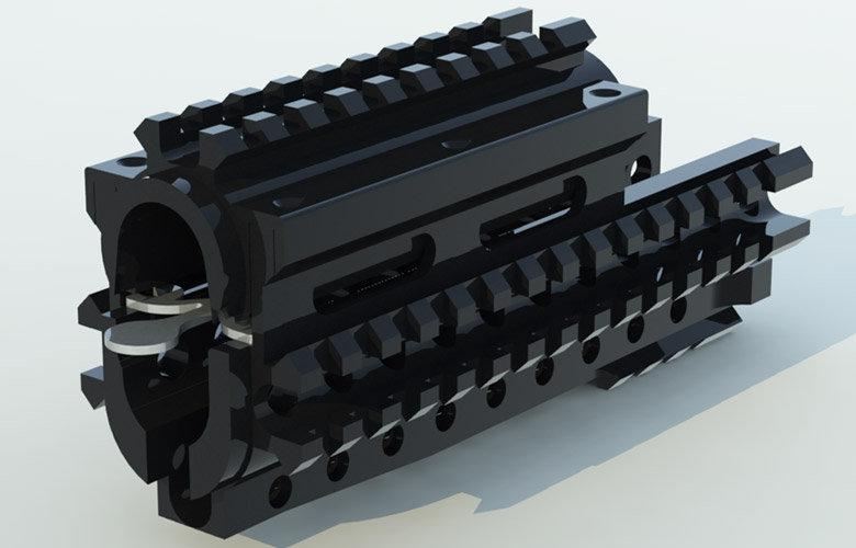 CRC 1U001gp Black Anodizing / цівка сумісна із ГП-25