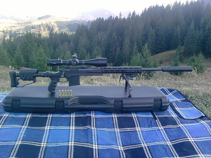 CRC 7R003 Cerakote Coated / chassis for Remington 700 Short Action