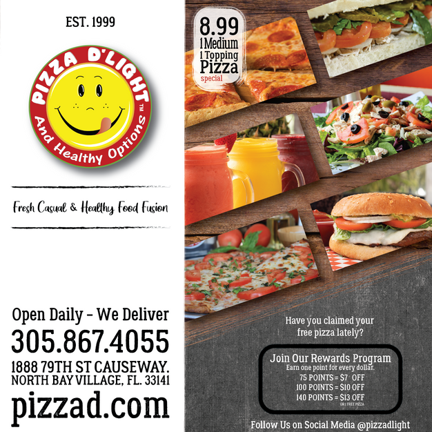 Pizza D'Light & Healthy Options Pizza Bo
