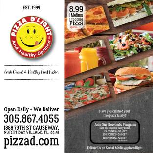 Pizza D'Light & Healthy Options Pizza Bo