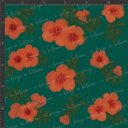 Hibiscus Teal Collection