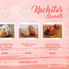 Kachito's Sweets Donut Menu