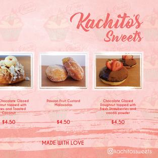 Kachito's Sweets Donut Menu