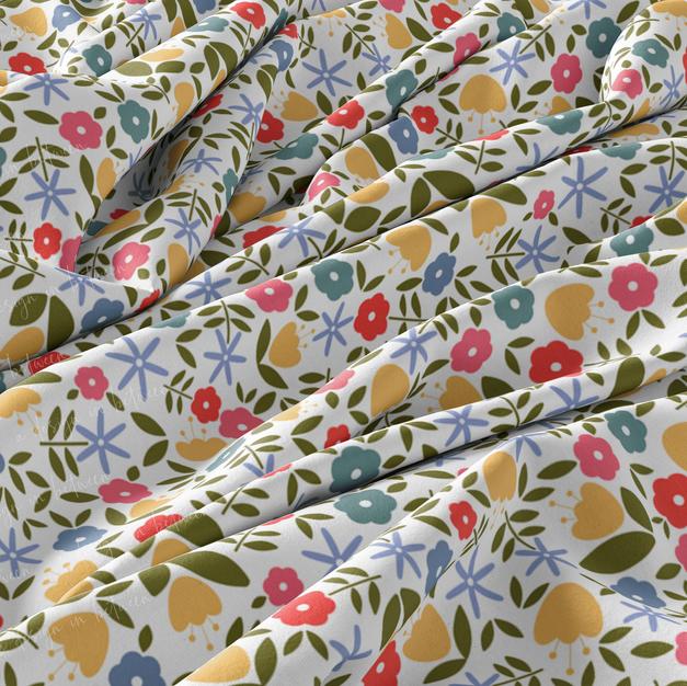 Flower Field - Custom Seamless Pattern