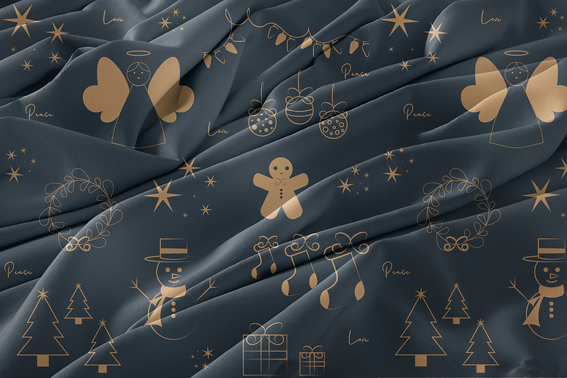 Christmas Doodles Blue Collection