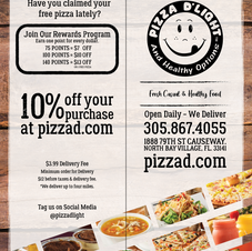 Pizza D'Light & Healthy Options Menu Cov
