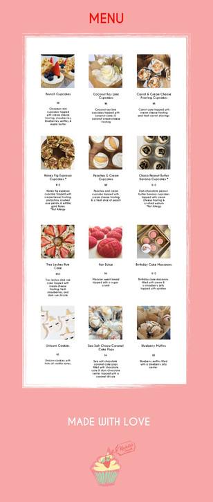 Kachito's Sweets Menu
