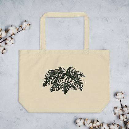 Monstera Deliciosa Large Organic Cotton Tote