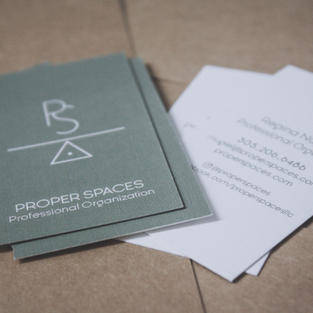 Proper Spaces Business Cards