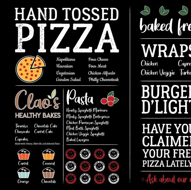 Pizza D'Light & Healthy Options Wall Art