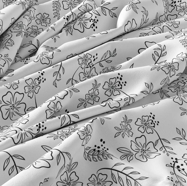 Tropical Flowers - Custom Seamless Pattern