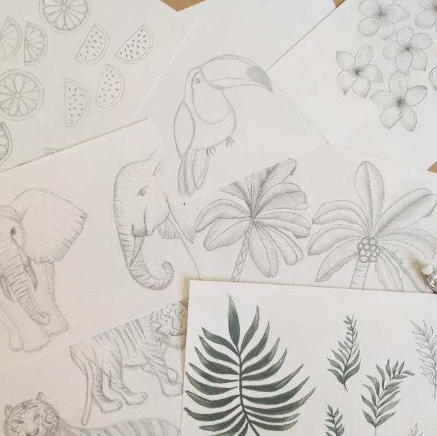 Sketches for The Tropics Collection