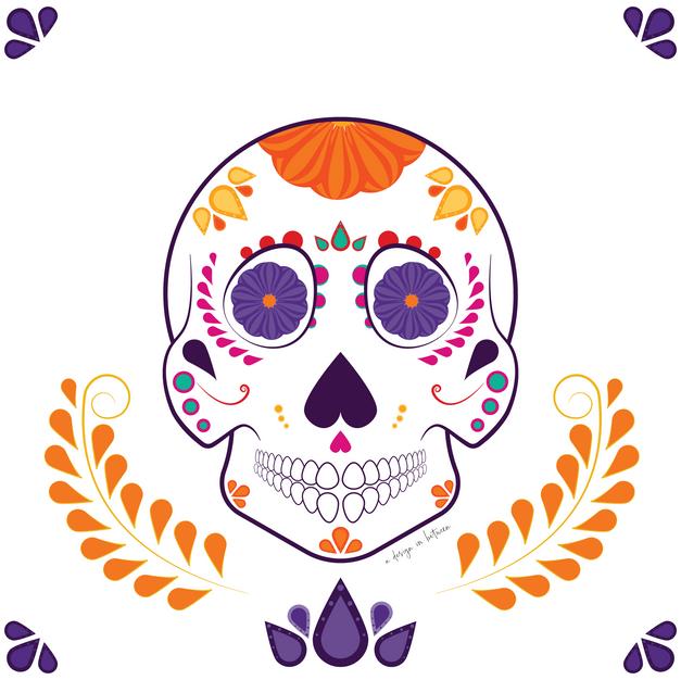 Dia De Los Muertos Sugar Skull Art
