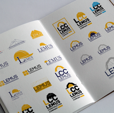 Lemus Construction Company Logo Concepts