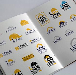 Lemus Construction Company Logo Concepts