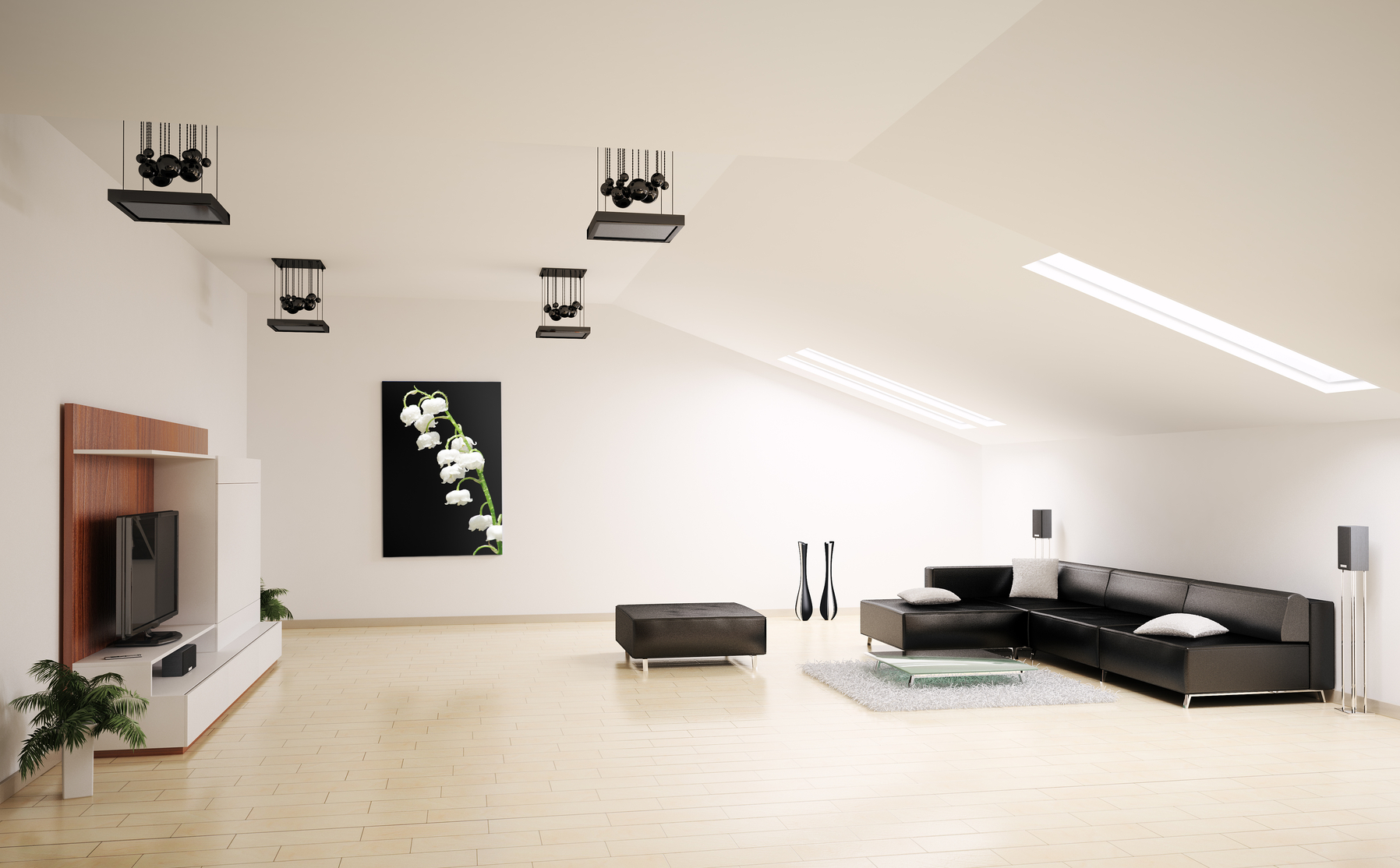 modern and minimalistic living room