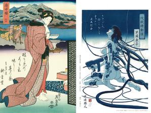 【古典的美人画と現代的美人画】