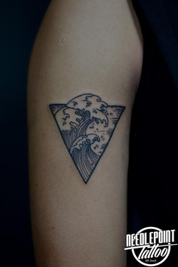 Custom minimalist tattoo