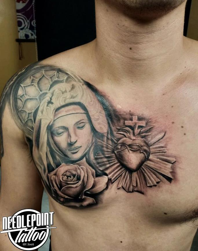 custom religious theme tattoo