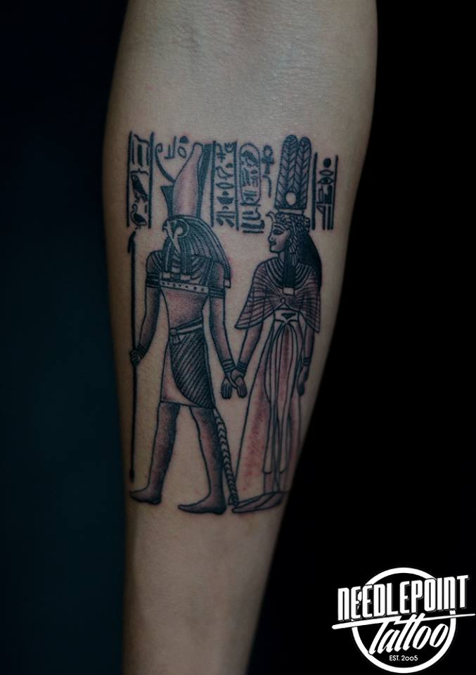 Black and grey Ancient Egyptian